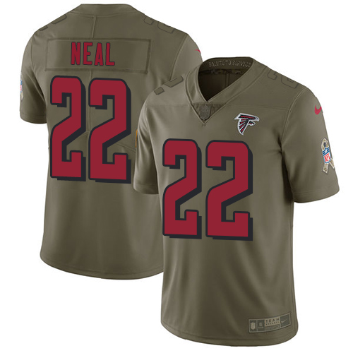 ID90123 Nike Atlanta Falcons #22 Keanu Neal Olive Men\'s Stitched NFL Limited 2017 Salute To Service Jersey