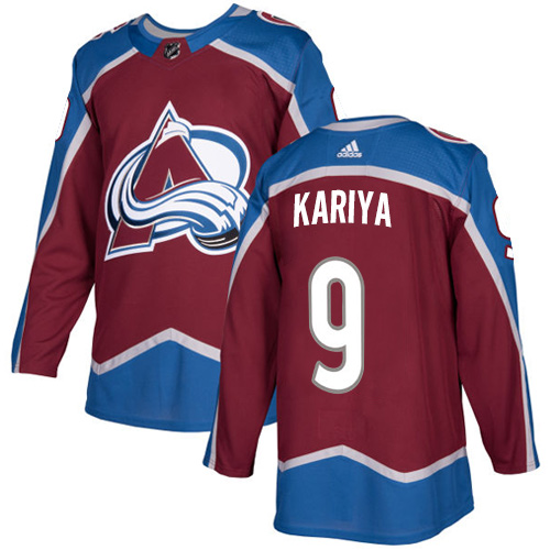 Adidas Colorado Avalanche #9 Paul Kariya Burgundy Home Authentic Stitched NHL Jersey
