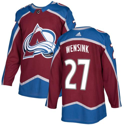 Adidas Colorado Avalanche #27 John Wensink Burgundy Home Authentic Stitched NHL Jersey