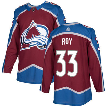 Adidas Colorado Avalanche #33 Patrick Roy Burgundy Home Authentic Stitched NHL Jersey