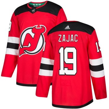 Adidas New Jersey Devils #19 Travis Zajac Red Home Authentic Stitched NHL Jersey