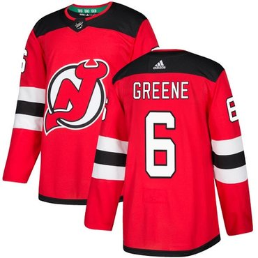 Adidas New Jersey Devils #6 Andy Greene Red Home Authentic Stitched NHL Jersey