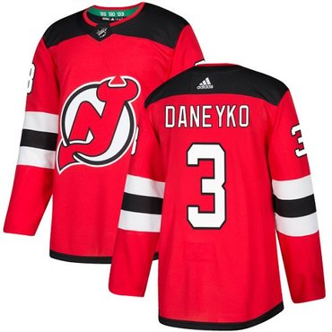Adidas New Jersey Devils #3 Ken Daneyko Red Home Authentic Stitched NHL Jersey