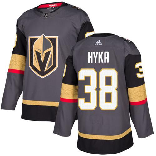 Adidas Vegas Golden Knights #38 Tomas Hyka Grey Home Authentic Stitched NHL Jersey