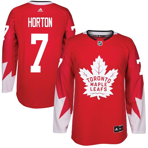 Adidas Toronto Maple Leafs #7 Tim Horton Red Team Canada Authentic Stitched NHL Jersey