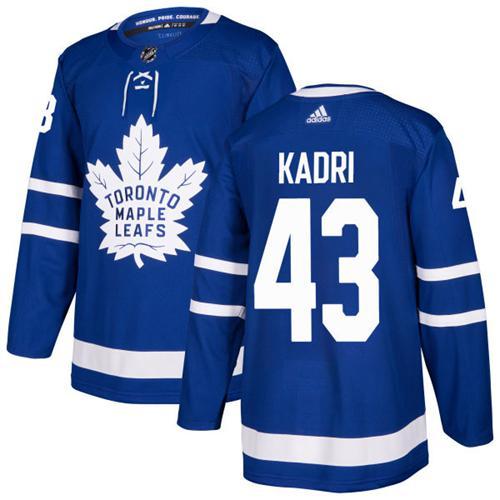 Adidas Toronto Maple Leafs #43 Nazem Kadri Blue Home Authentic Stitched NHL Jersey