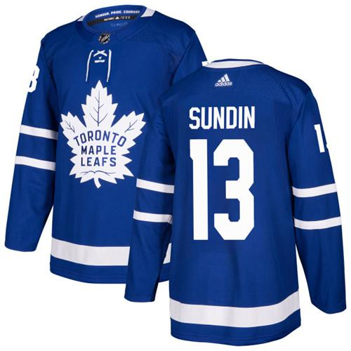 Adidas Toronto Maple Leafs #13 Mats Sundin Blue Home Authentic Stitched NHL Jersey