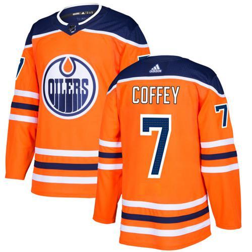 Adidas Edmonton Oilers #7 Paul Coffey Orange Home Authentic Stitched NHL Jersey