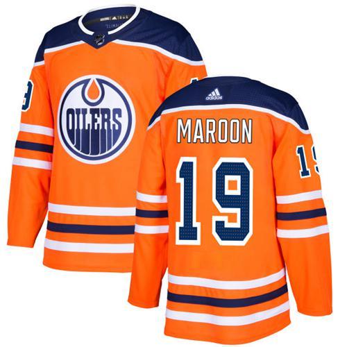 Adidas Edmonton Oilers #19 Patrick Maroon Orange Home Authentic Stitched NHL Jersey