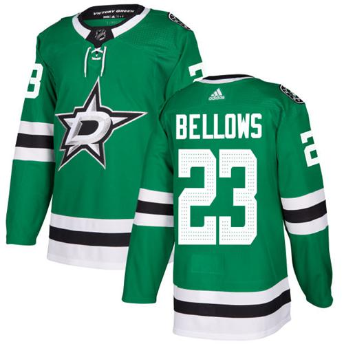 Adidas Dallas Stars #23 Brian Bellows Green Home Authentic Stitched NHL Jersey