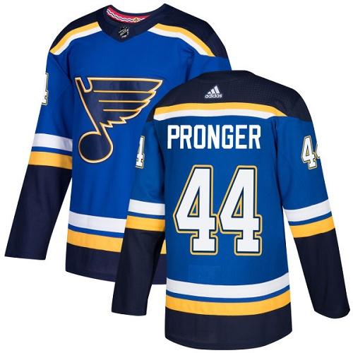 Men's Adidas St. Louis Blues #44 Chris Pronger Blue Home Authentic Stitched NHL Jersey