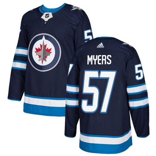 Adidas Jets #57 Tyler Myers Navy Blue Home Authentic Stitched NHL Jersey