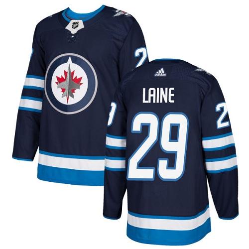 Adidas Jets #29 Patrik Laine Navy Blue Home Authentic Stitched NHL Jersey