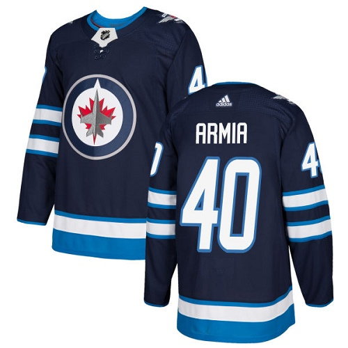 Adidas Jets #40 Joel Armia Navy Blue Home Authentic Stitched NHL Jersey