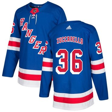 Adidas Rangers #36 Mats Zuccarello Royal Blue Home Authentic Stitched NHL Jersey