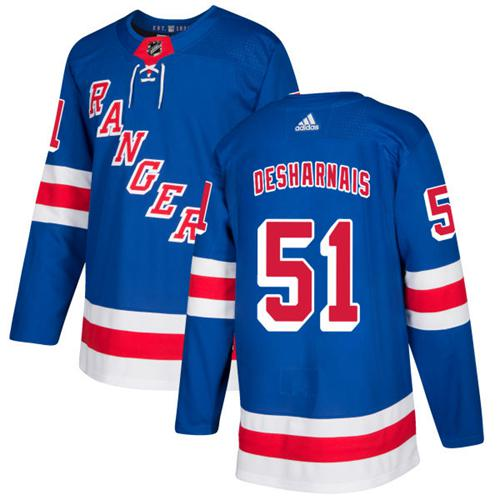 Adidas Rangers #51 David Desharnais Royal Blue Home Authentic Stitched NHL Jersey