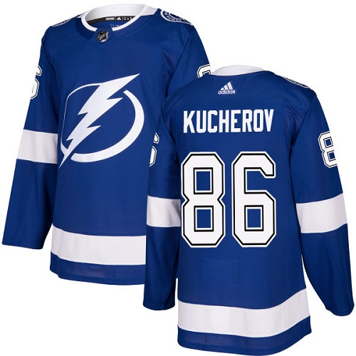 Adidas Lightning #86 Nikita Kucherov Blue Home Authentic Stitched NHL Jersey