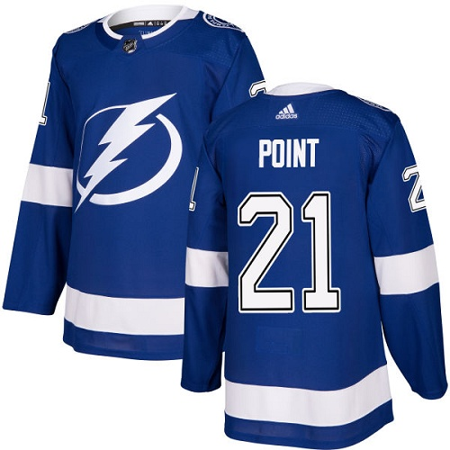 Adidas Lightning #21 Brayden Point Blue Home Authentic Stitched NHL Jersey