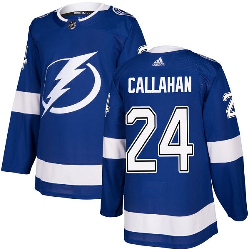 Adidas Lightning #24 Ryan Callahan Blue Home Authentic Stitched NHL Jersey