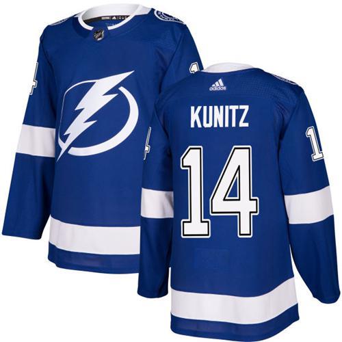 Adidas Lightning #14 Chris Kunitz Blue Home Authentic Stitched NHL Jersey