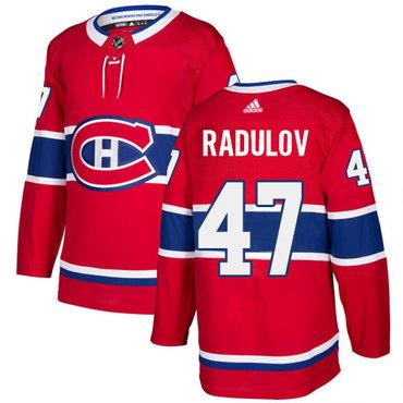 Adidas Canadiens #47 Alexander Radulov Red Home Authentic Stitched NHL Jersey