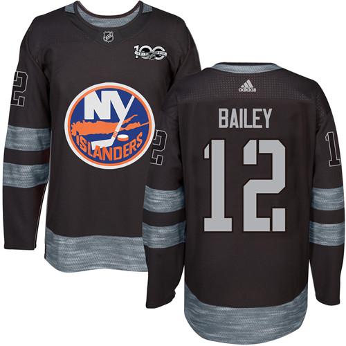 Adidas Islanders #12 Josh Bailey Black 1917-2017 100th Anniversary Stitched NHL Jersey