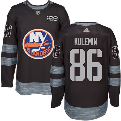 Adidas Islanders #86 Nikolay Kulemin Black 1917-2017 100th Anniversary Stitched NHL Jersey