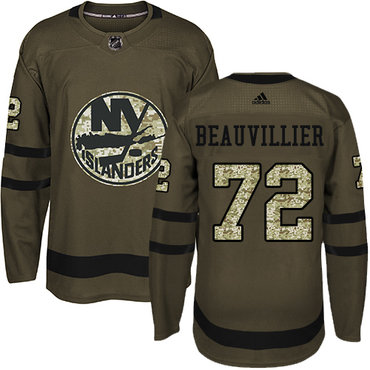Adidas Islanders #72 Anthony Beauvillier Green Salute to Service Stitched NHL Jersey