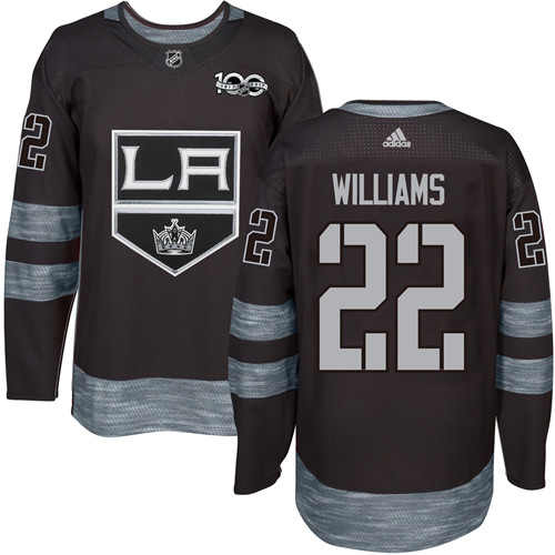 Adidas Kings #22 Tiger Williams Black 1917-2017 100th Anniversary Stitched NHL Jersey