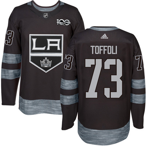 Adidas Kings #73 Tyler Toffoli Black 1917-2017 100th Anniversary Stitched NHL Jersey