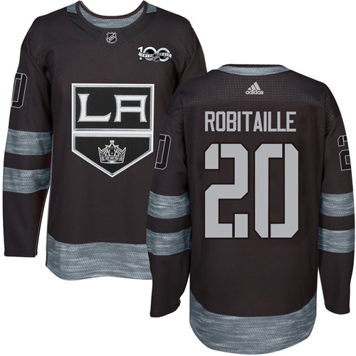 Adidas Kings #20 Luc Robitaille Black 1917-2017 100th Anniversary Stitched NHL Jersey