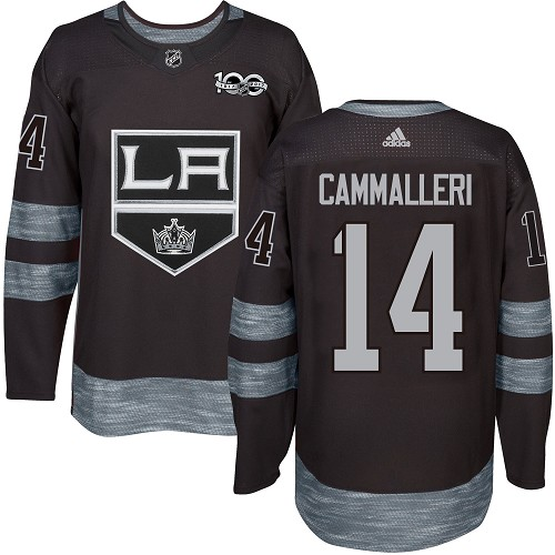 Adidas Kings #14 Mike Cammalleri Black 1917-2017 100th Anniversary Stitched NHL Jersey