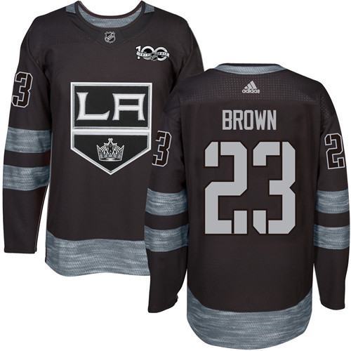 Adidas Kings #23 Dustin Brown Black 1917-2017 100th Anniversary Stitched NHL Jersey