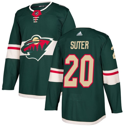 Adidas Wild #20 Ryan Suter Green Home Authentic Stitched NHL Jersey