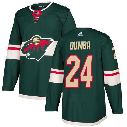 Adidas Wild #24 Matt Dumba Green Home Authentic Stitched NHL Jersey
