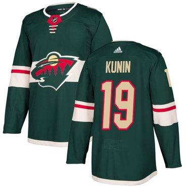 Adidas Wild #19 Luke Kunin Green Home Authentic Stitched NHL Jersey