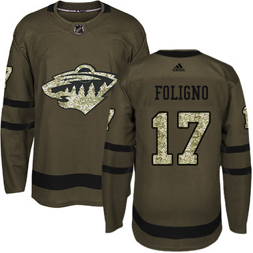 Adidas Wild #17 Marcus Foligno Green Salute to Service Stitched NHL Jersey