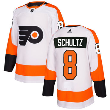 Adidas Philadelphia Flyers #8 Dave Schultz White Authentic Stitched NHL Jersey