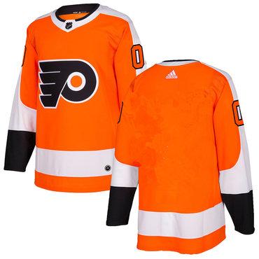 Adidas Philadelphia Flyers Blank Orange Home Authentic Stitched NHL Jersey