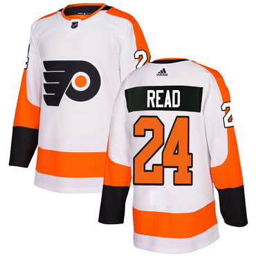 Adidas Philadelphia Flyers #24 Matt Read White Authentic Stitched NHL Jersey