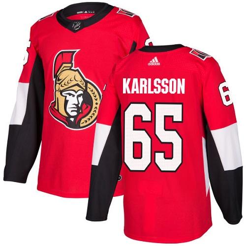 Adidas Senators #65 Erik Karlsson Red Home Authentic Stitched NHL Jersey