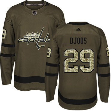 Adidas Capitals #29 Christian Djoos Green Salute to Service Stitched NHL Jersey