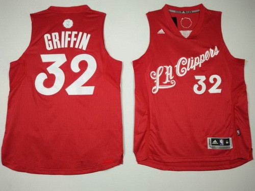 Men 39 S Los Angeles Clippers 32 Blake Griffin Adidas Red