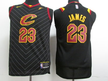Youth Nike Cavaliers #23 LeBron James Black Stitched NBA Swingman Jersey