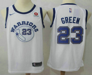 Men's Golden State Warriors #23 Draymond Green White 2017-2018 Nike Authentic Rakuten Stitched NBA Jersey