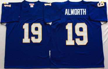 Chargers 19 Lance Alworth Blue Throwback Jersey