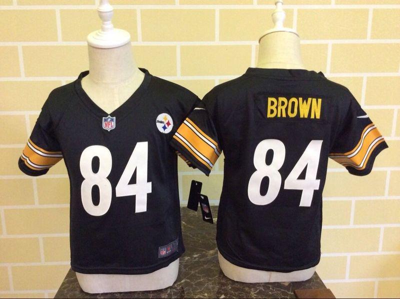 Toddler Pittsburgh Steelers #84 Antonio Brown Team Color NFL Nike Jersey