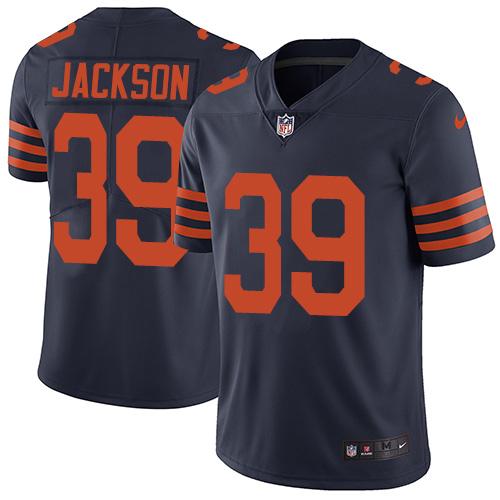 Nike Chicago Bears Men's #39 Eddie Jackson Limited Navy Blue Alternate Vapor Untouchable NFL
