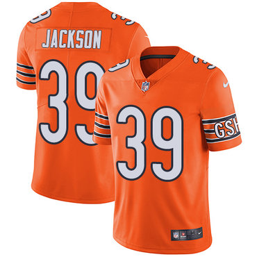 Nike Chicago Bears Men's #39 Eddie Jackson Limited Orange Rush Vapor Untouchable NFL