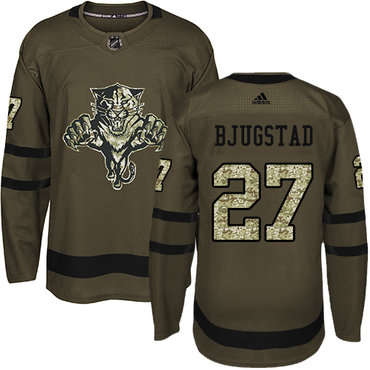 Adidas Panthers #27 Nick Bjugstad Green Salute to Service Stitched NHL Jersey